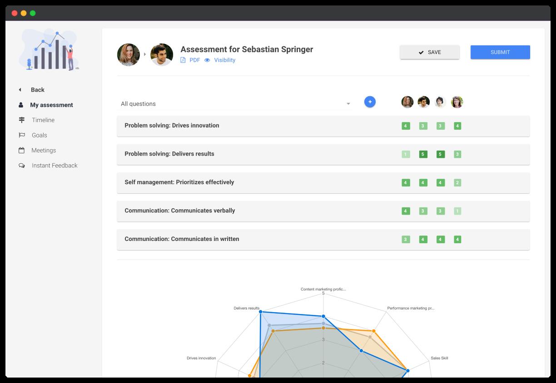 Screenshot of Leapsome's Goal Management & OKR Software
