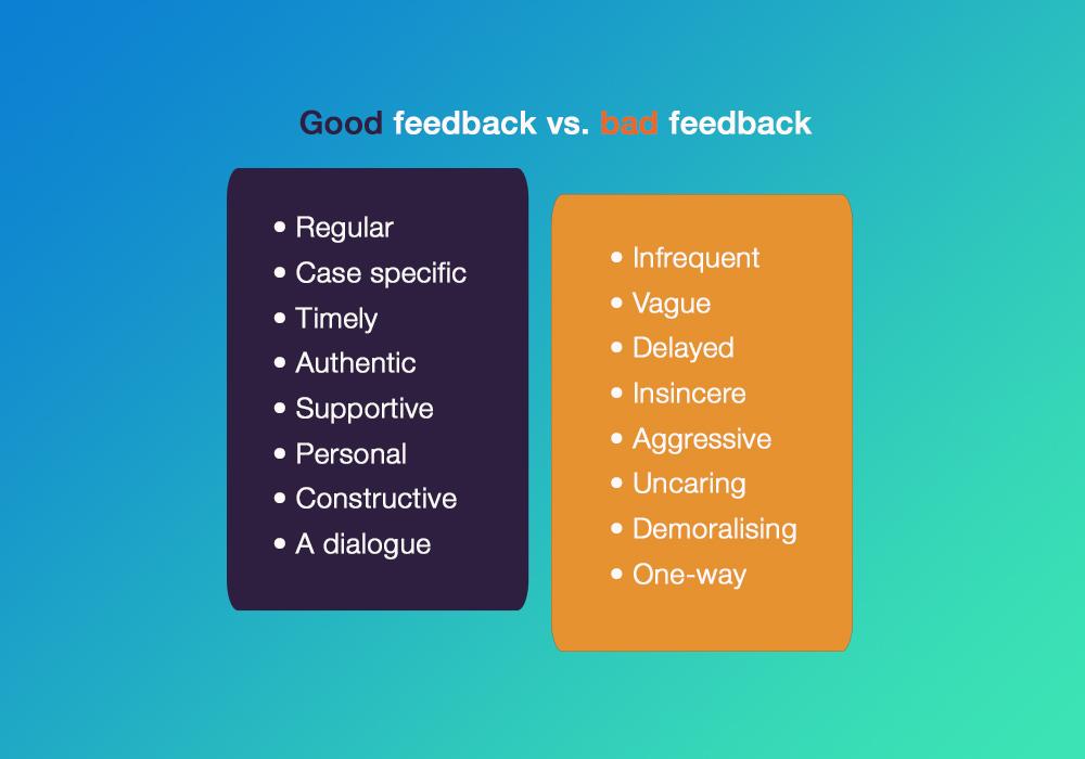 Good and bad feedback at work