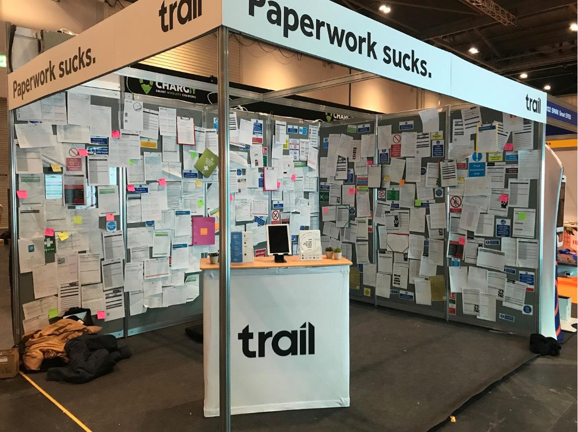 Trail app stand at a fair