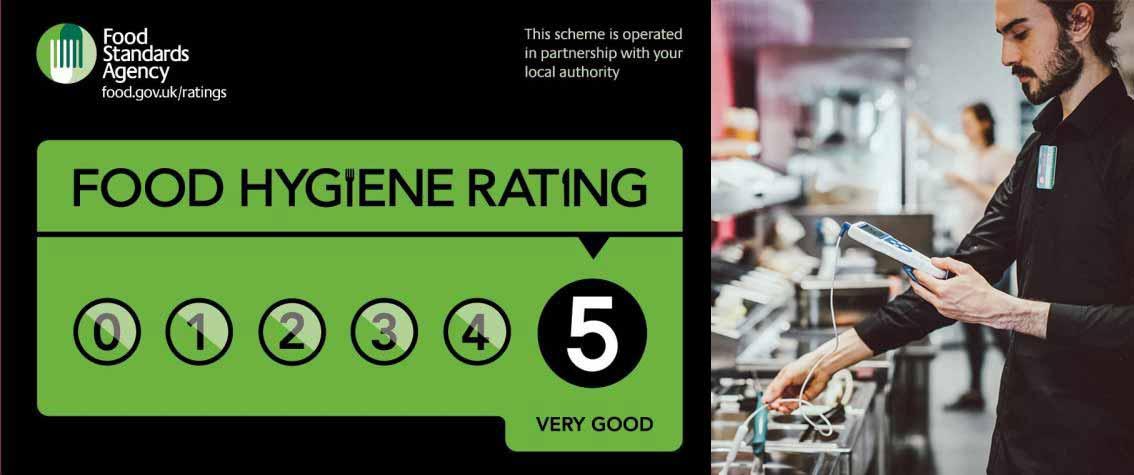 Food hygiene rating of 5