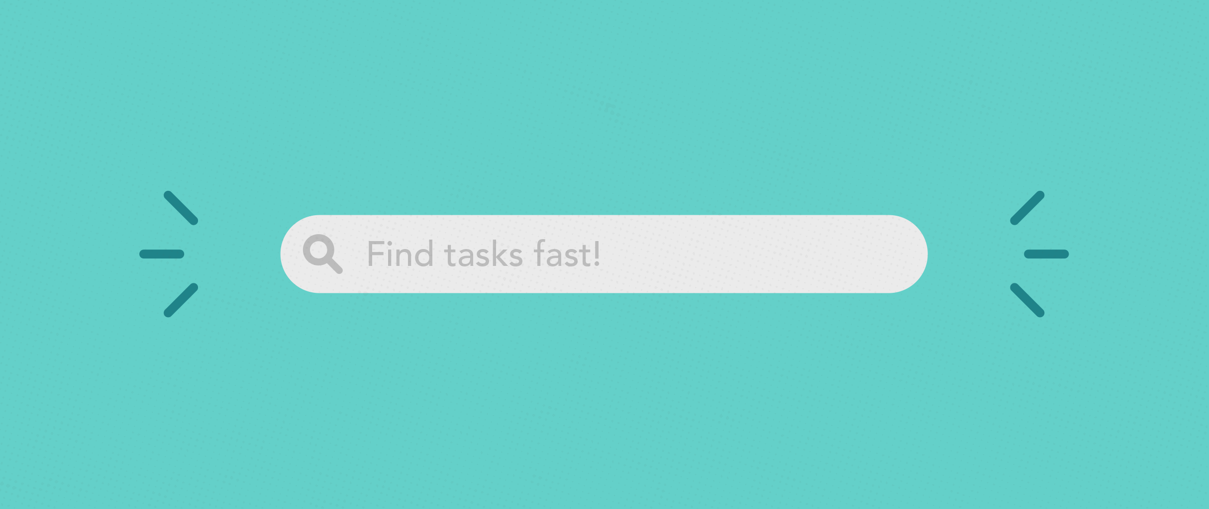 Search bar for finding tasks