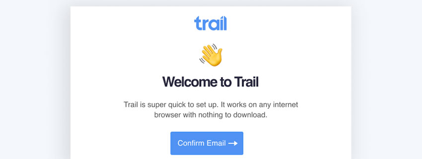 Welcome to Trail message