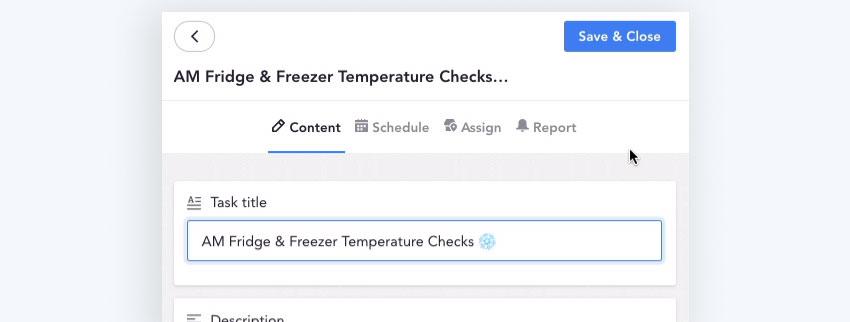 Fridge and freezer temperature checklist