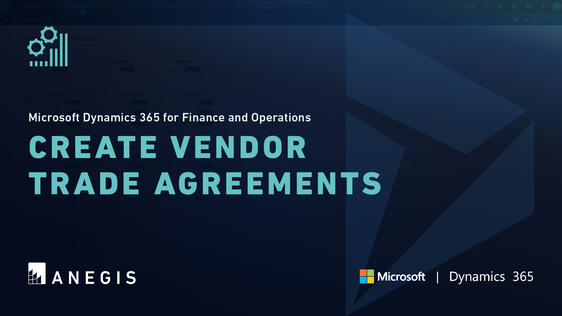 D365 F&O: Create Vendor Trade Agreements