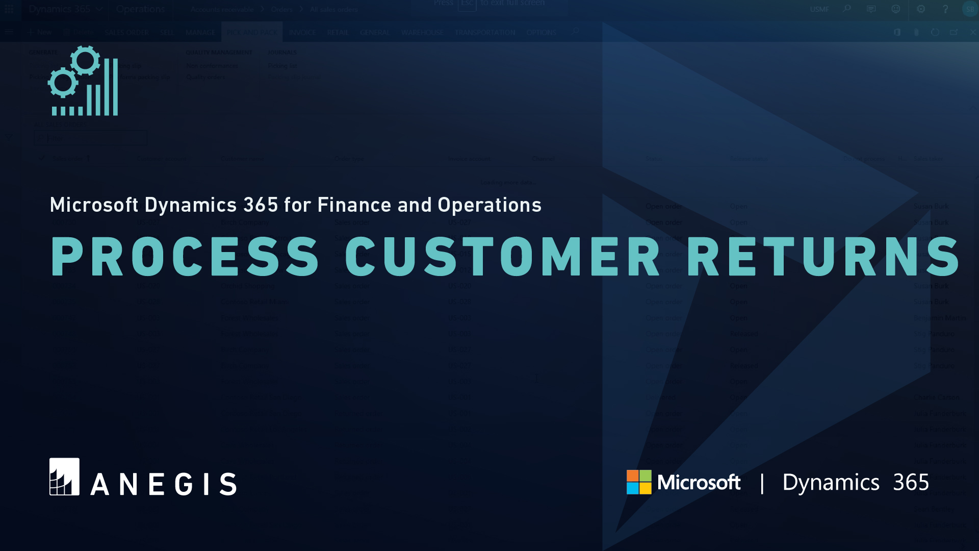 D365 F&O: Process Customer Returns