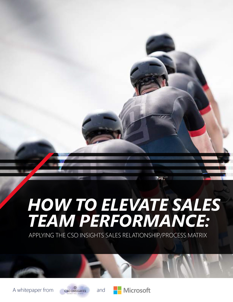 A framework to drive sales team performance