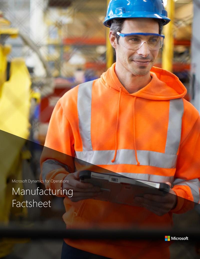 D365 F&O – Manufacturing factsheet