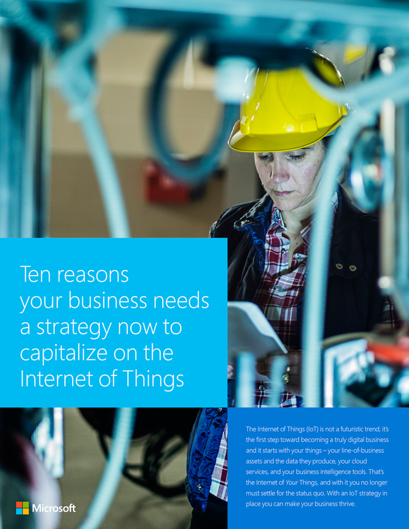 Ten reasons your business needs a strategy now to capitalise on the IoT