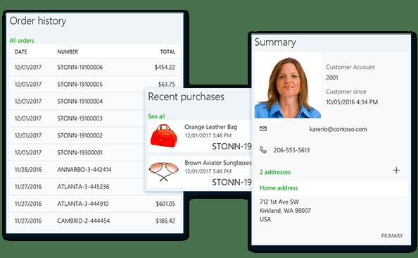 historia zamówień klienta w Dynamics 365 for Retail
