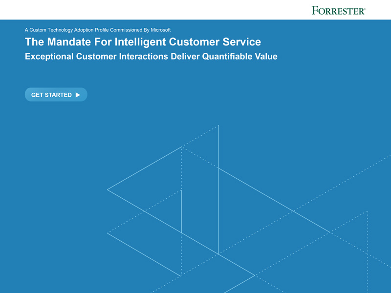 Forrester – The mandate for intelligent customer service