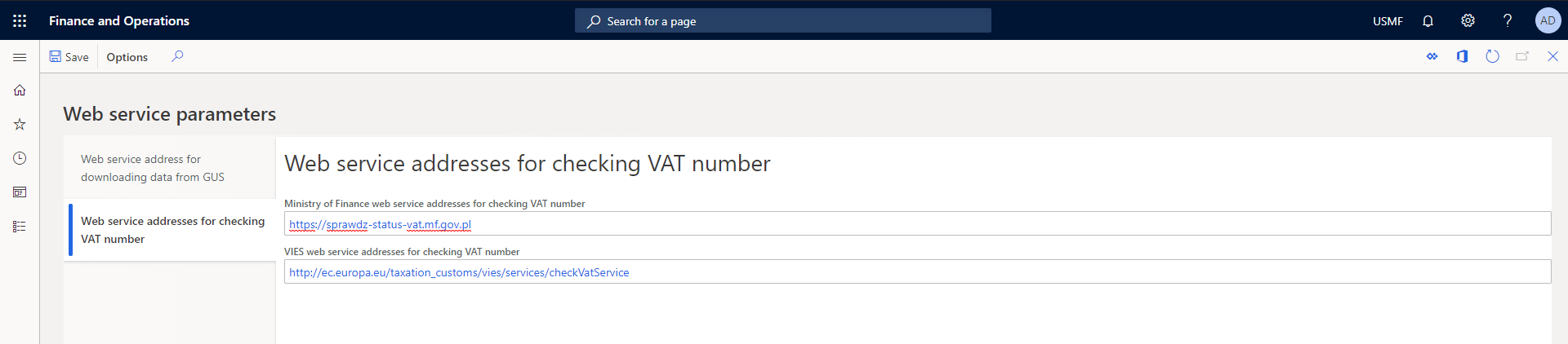 Polish Localisation Pack checking VAT number