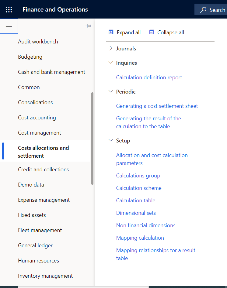 Cost Allocation and Settlement