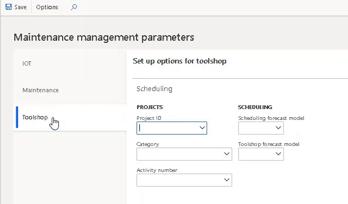 Toolshop parameters