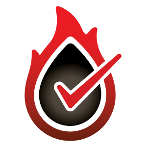 Verified Controls Logo Flame and Fuel Mark