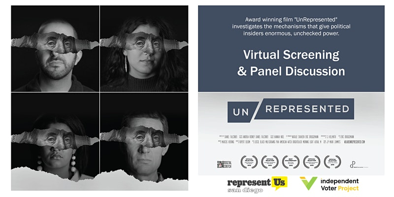 Represent San Diego, Independent Voter Project to Host Free Screening of 'UnRepresented'  | Independent Voter News
