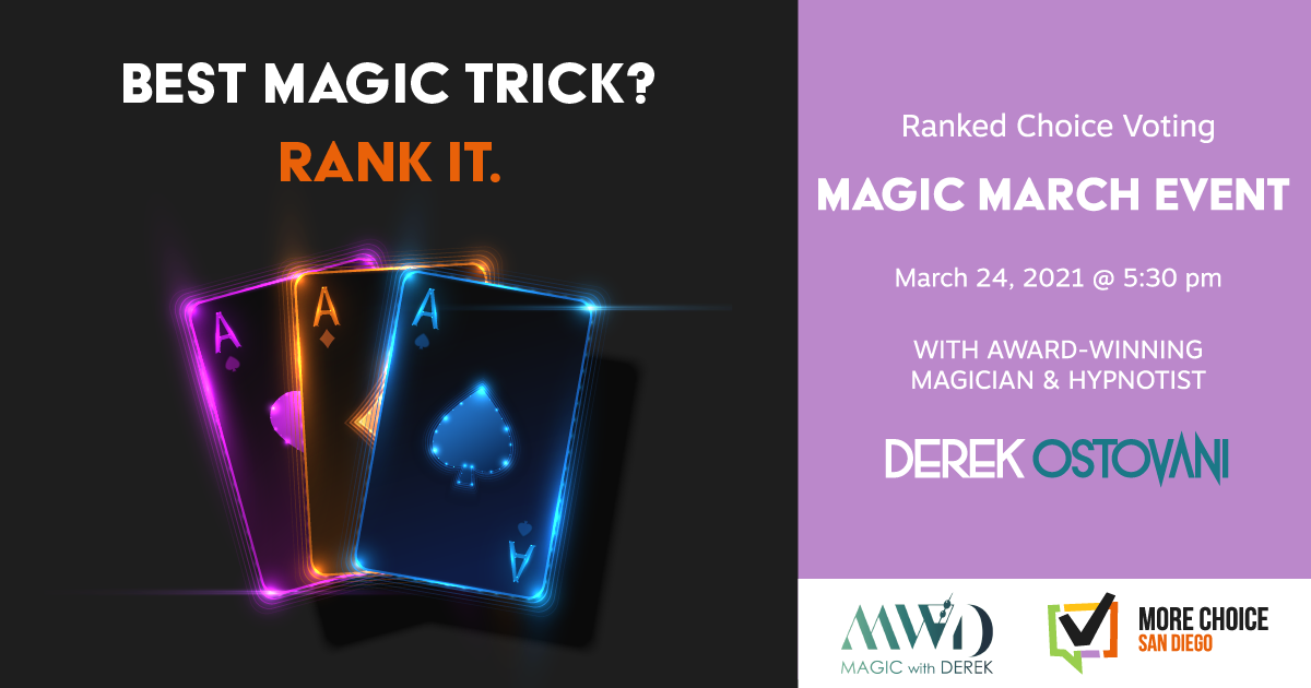 Virtual Magic Show to Introduce Ranked Choice Voting to San Diego