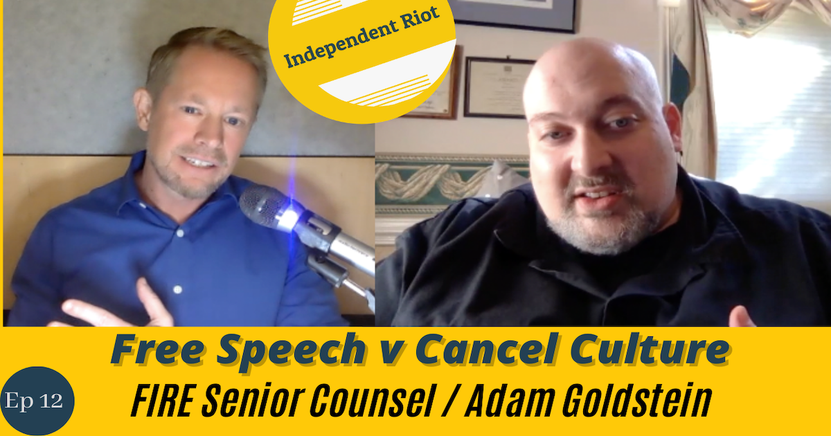 Shouting 'FIRE' in a crowded democracy! (with Adam Goldstein)