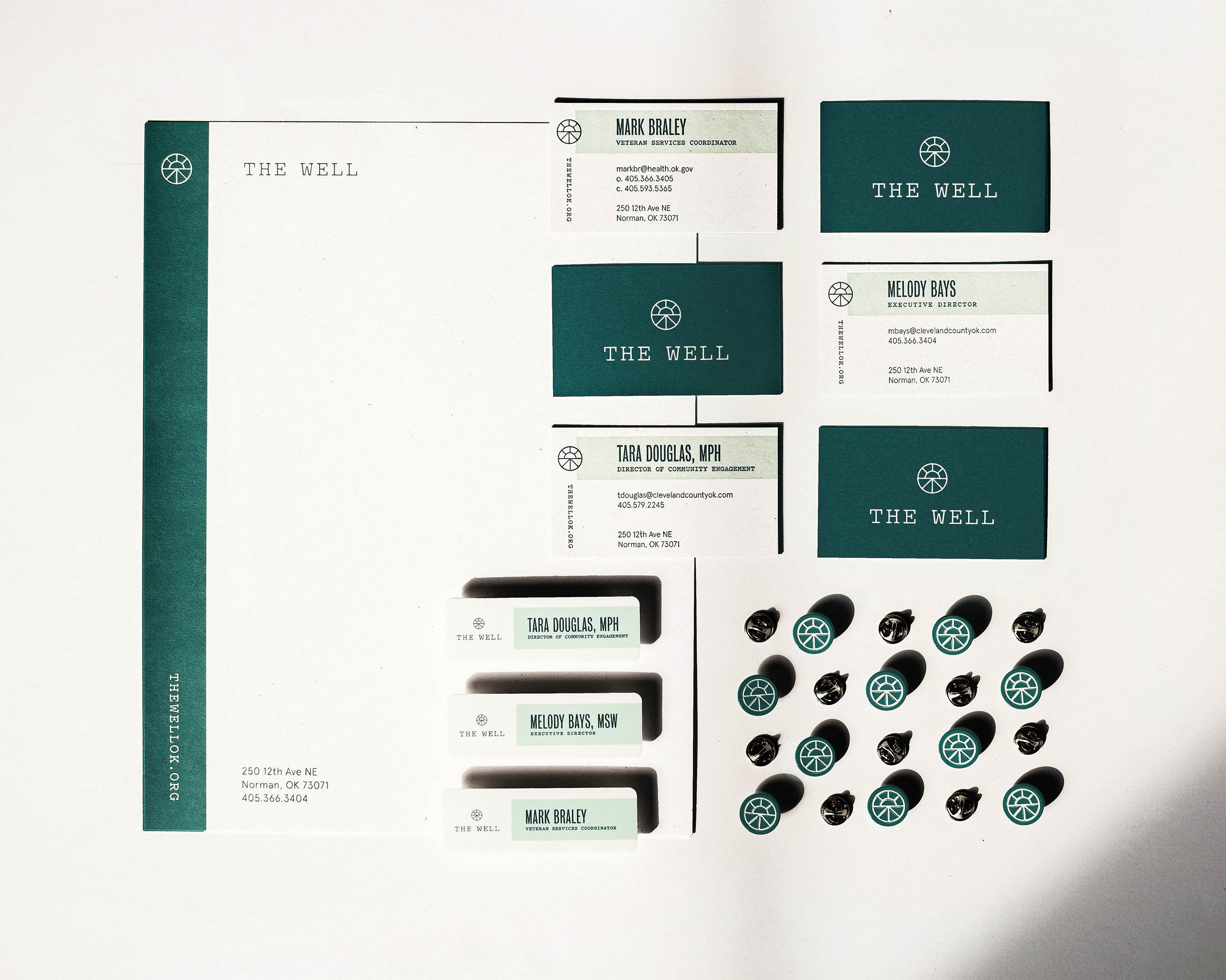 Stationery Set for The Well in Norman, OK by Ghost, Inc.