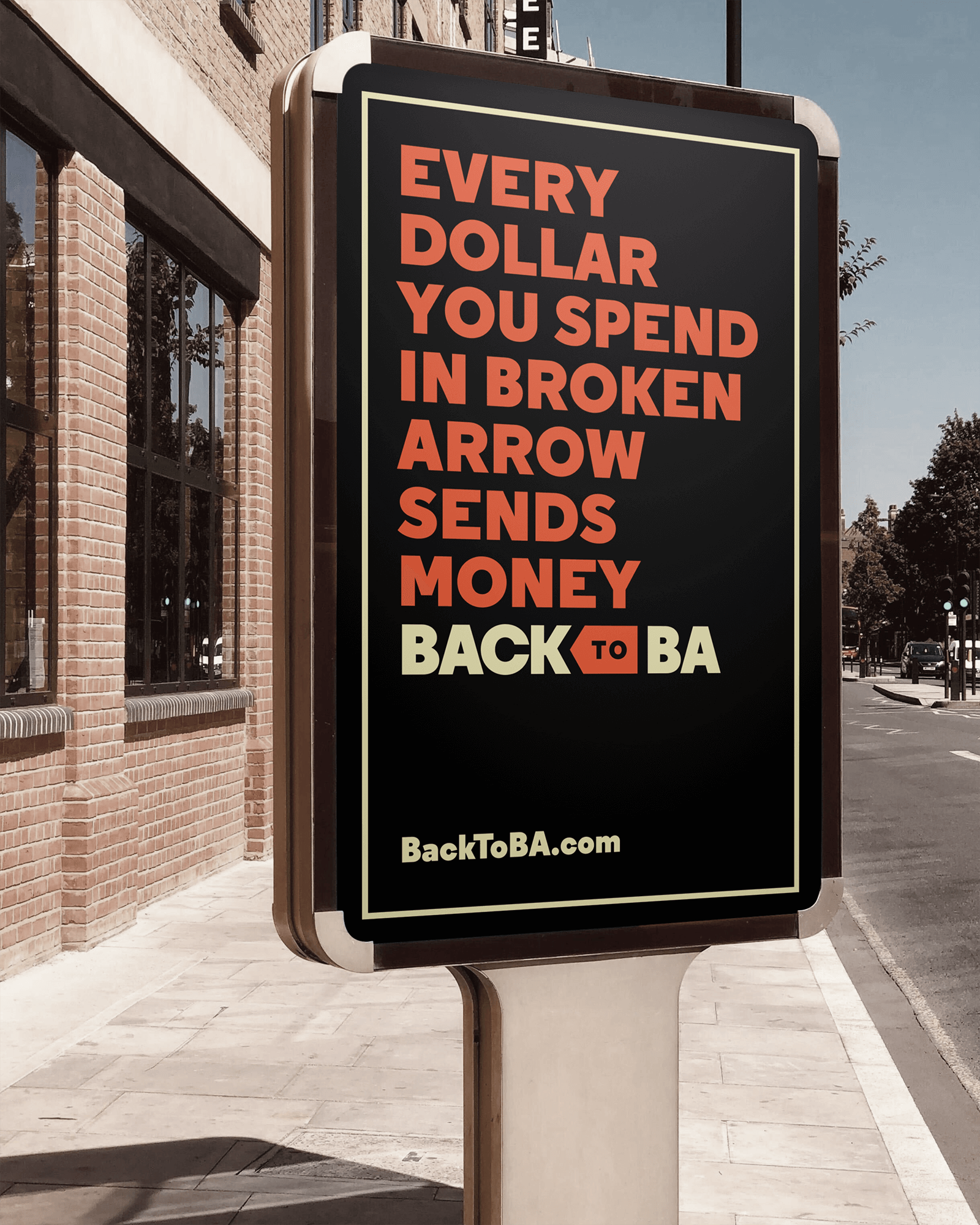 A digital advertisement for Back to B.A.