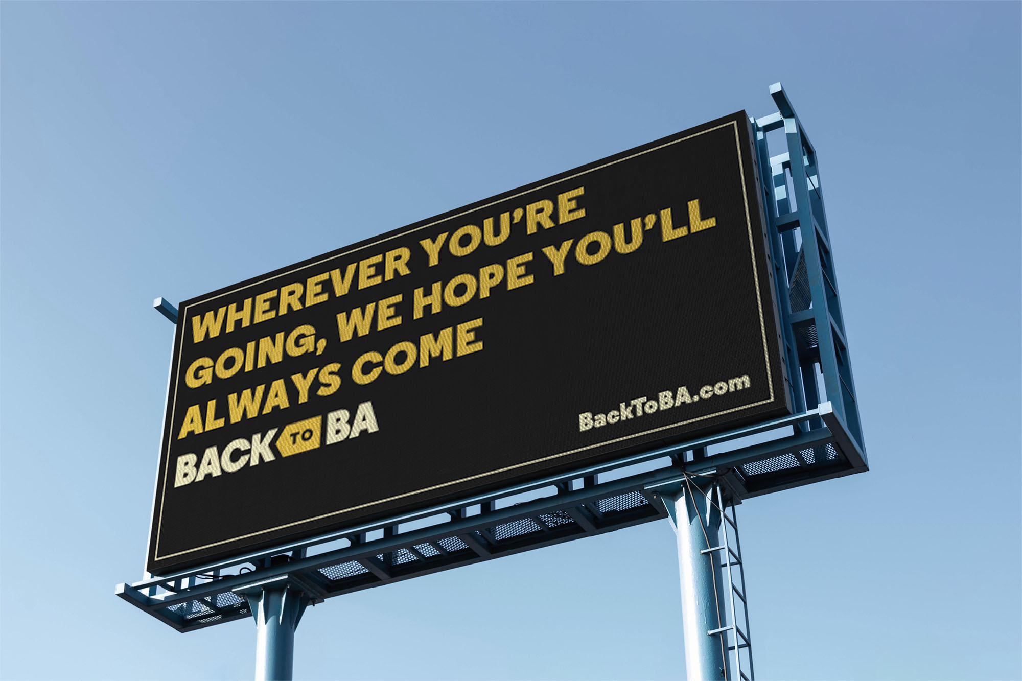 A billboard for Back to BA