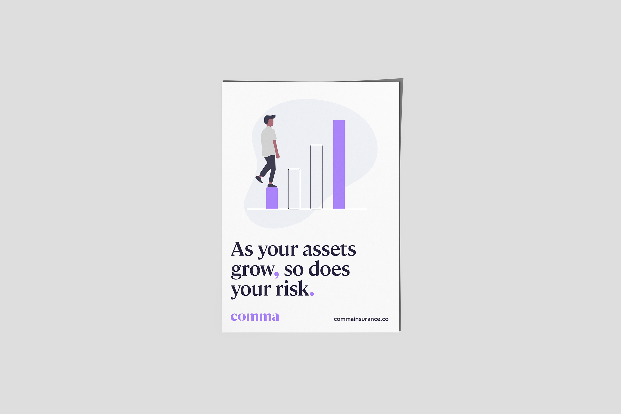 "Poster: ""As your assets grow, so does your risk"""