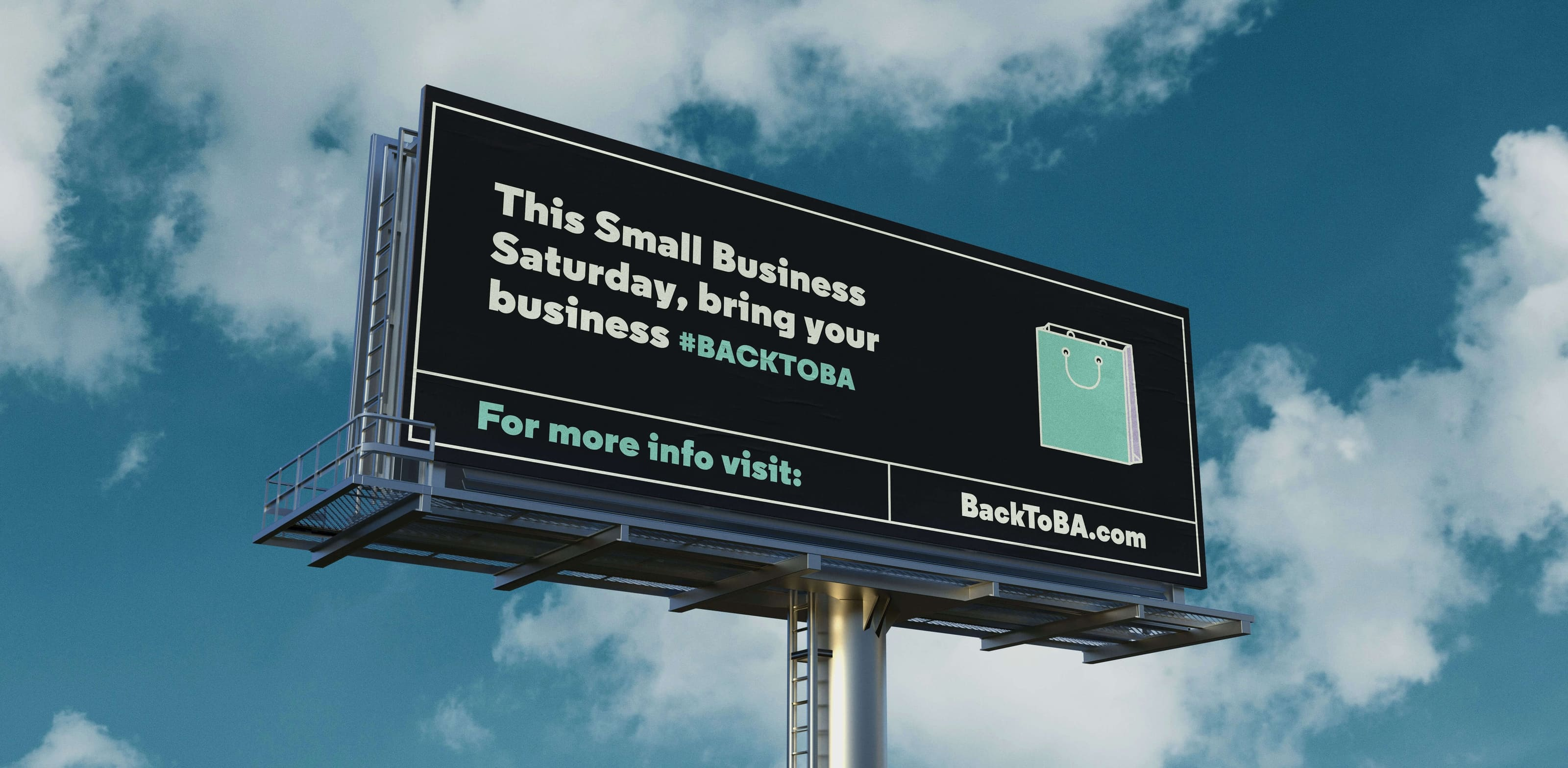Back to B.A. billboard outdoor media