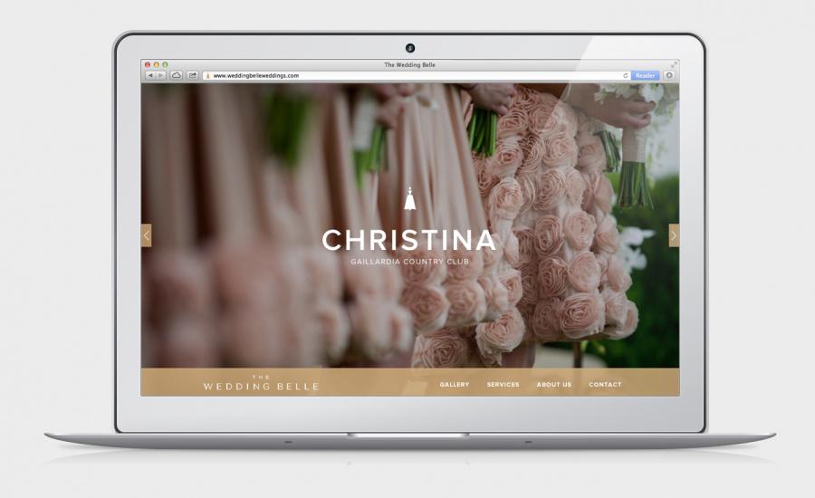 Website for The Wedding Belle