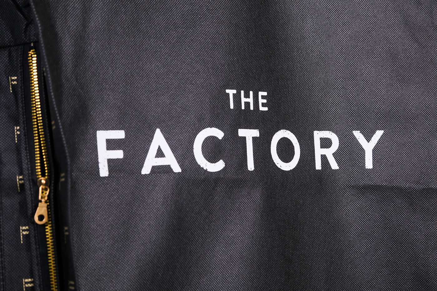 A suit cover for The Factory, Screen Printed