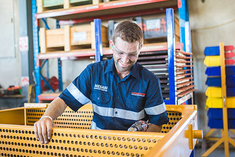 Coxons engineer conducting repair