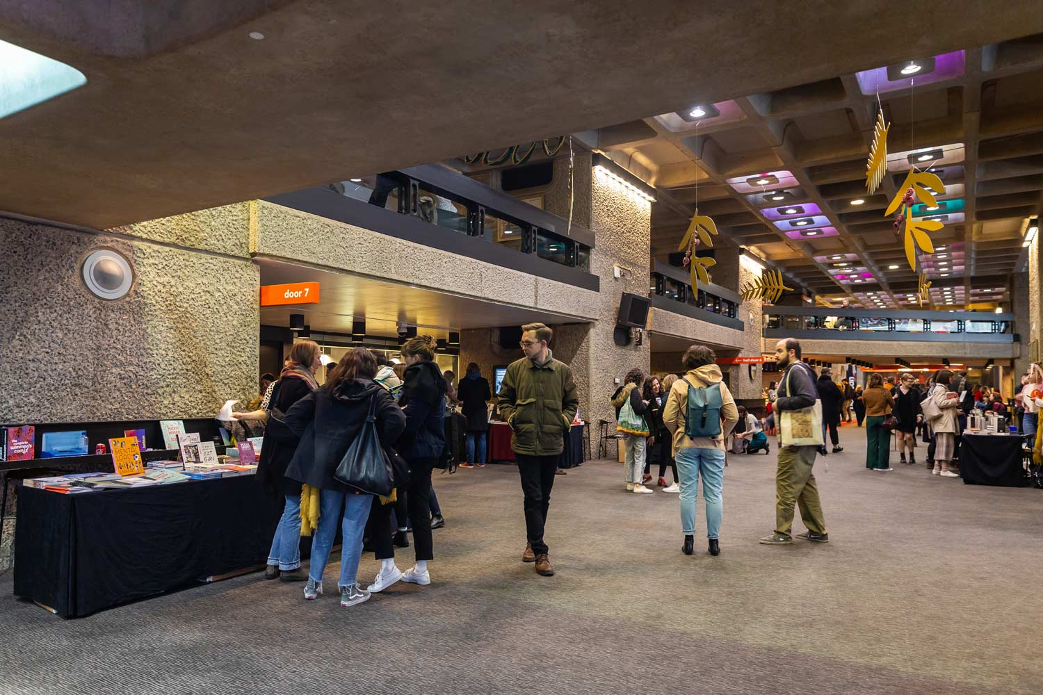 milling about at the Barbican Centre before Sound Unbound
