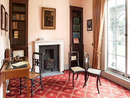 keats house in london entrance for free poetry