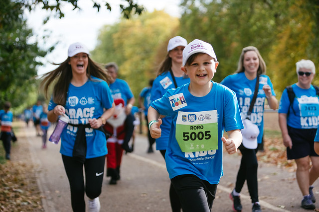 kids running for GOSH in rbc Race for the kids