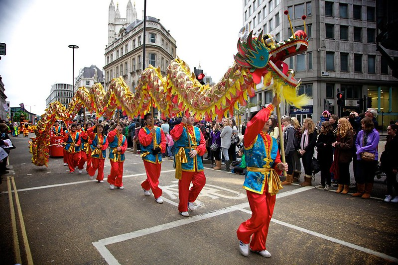 chinese dragon celebration at lord mayors show