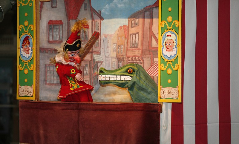 A traditional Punch and Judy puppet show!