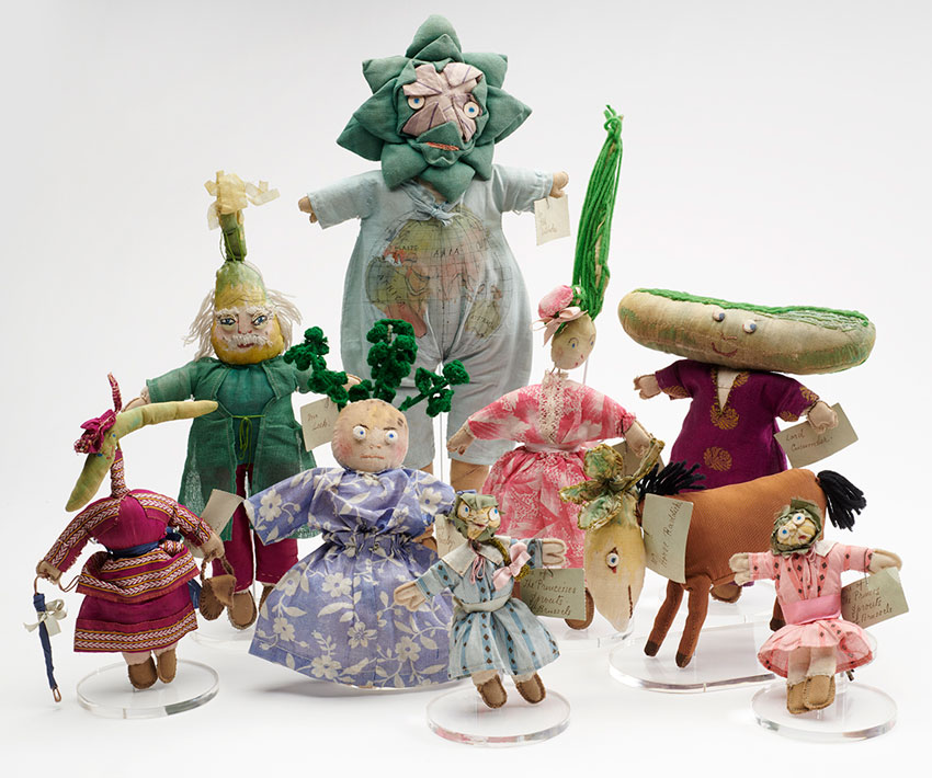 Vegetable Dolls at The Museum of London