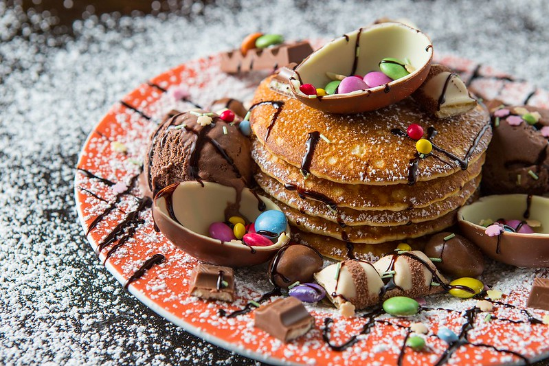 Delicious Kinder egg pancakes!