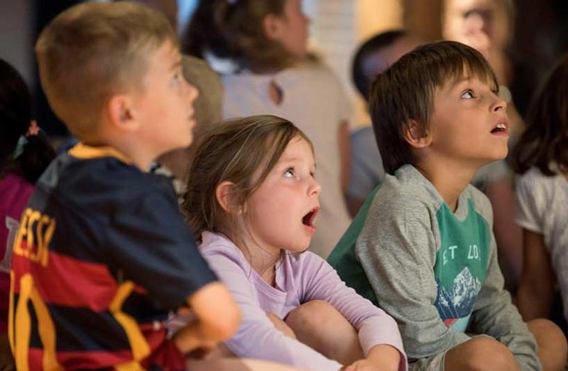 Kids watching Olaf and Elsa's Frozen Christmas
