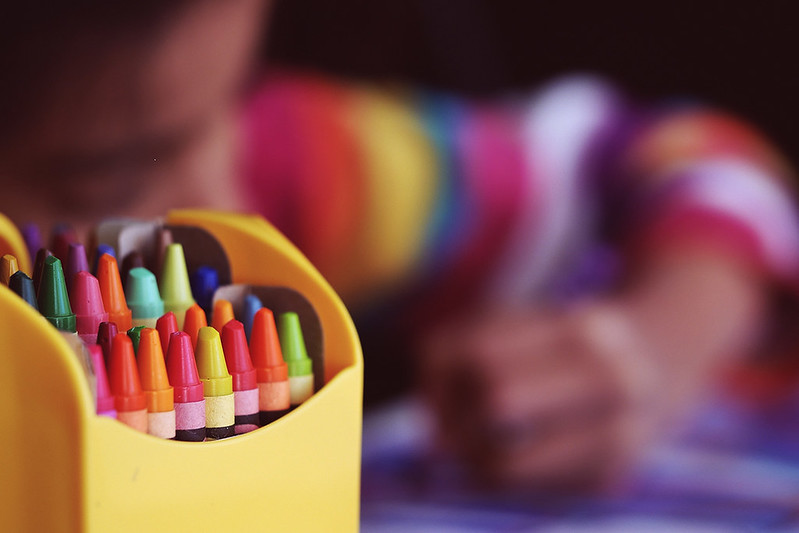 colouring in fun wellbeing zone for families at imagine festival