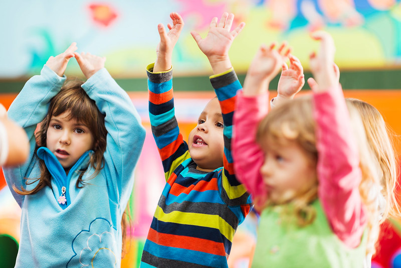 dancing children at family friendly rave