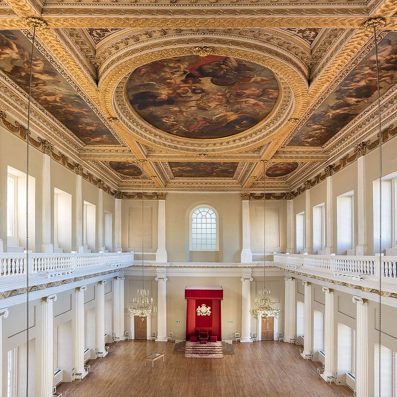 banqueting house incredible ceiling