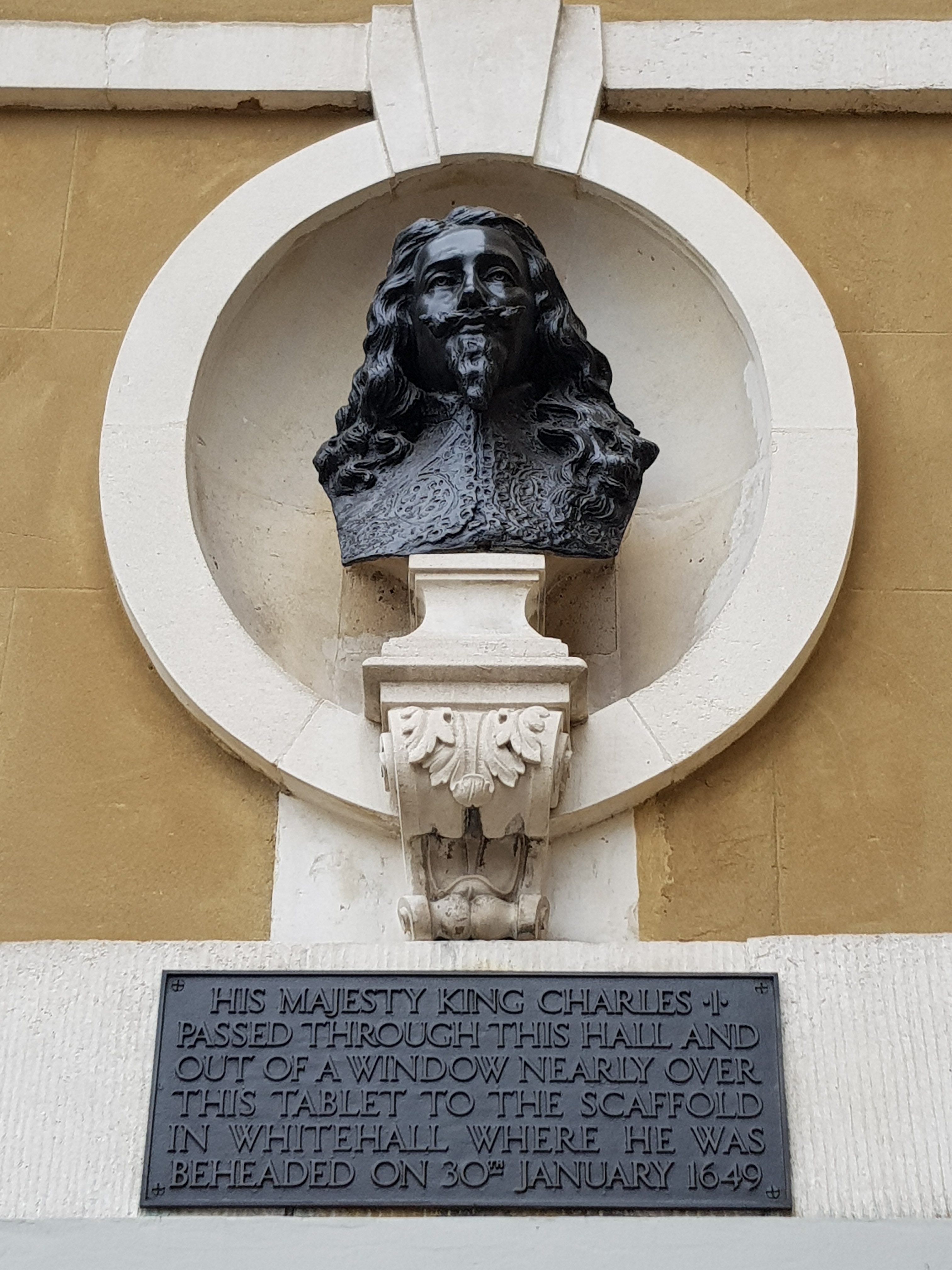 charles I execution bust