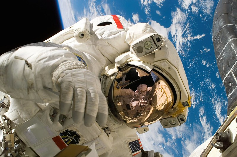 Astronaut into space