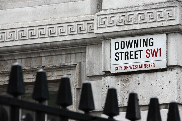 Iconic Downing Street Road sign