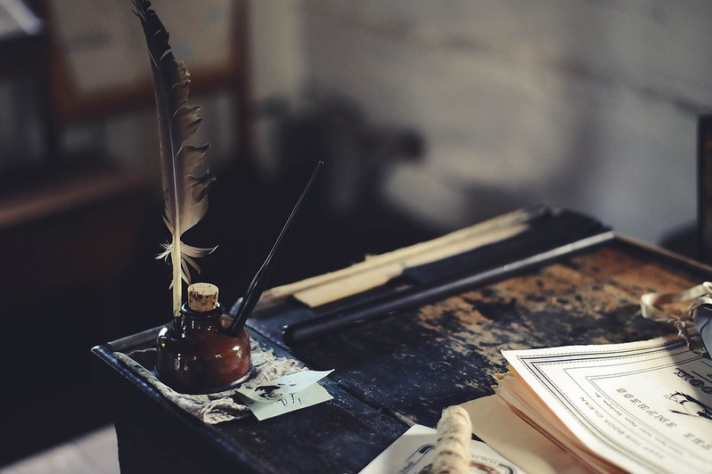 Magic quill and parchment