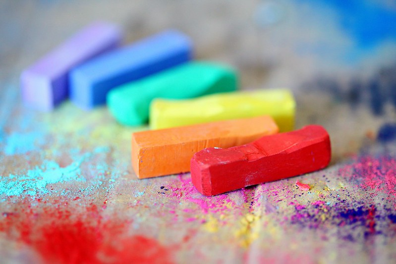 Rainbow chalk for arts and crafts