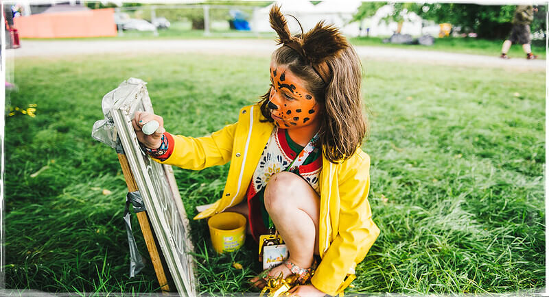 virtual festival with face paint