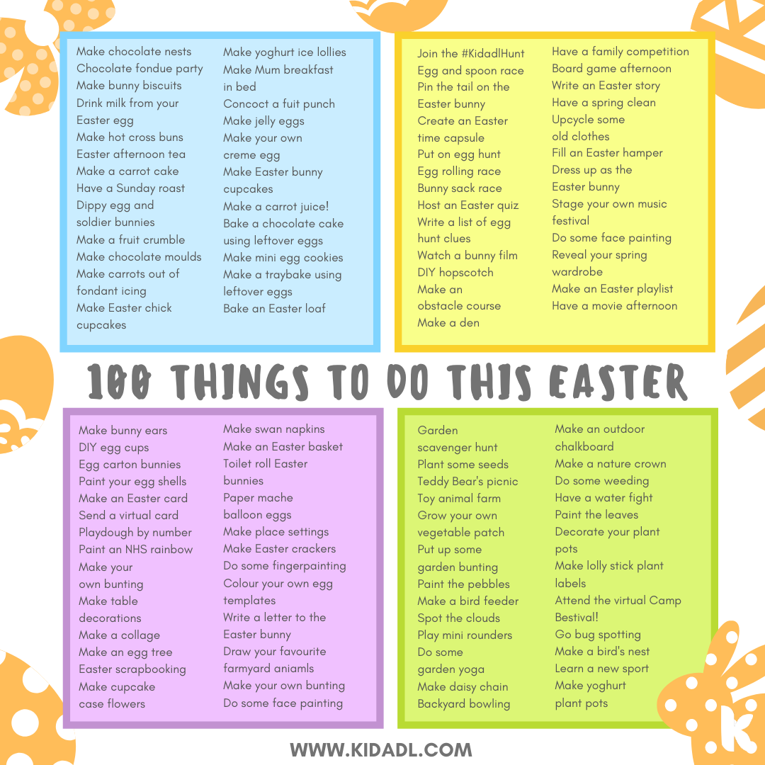 things to do at easter