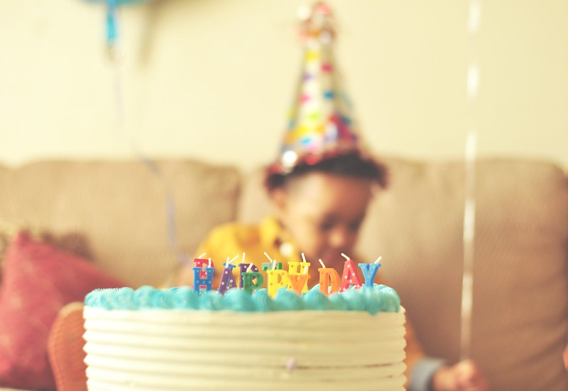 Child's birthday party with cake