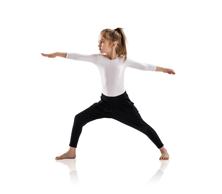 Child doing yoga