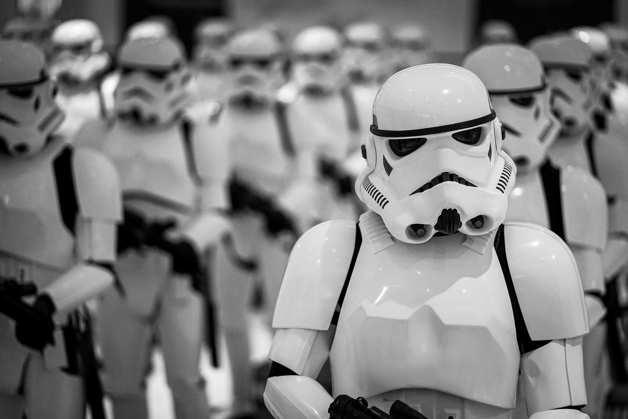 army of stormtroopers lined up